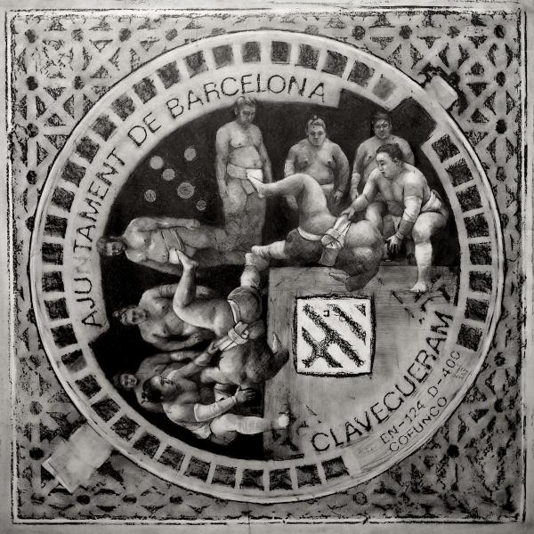 Aju tament de Barcelona (Sumo) / BCN 2014/grafito sobre papel 80x80 cm