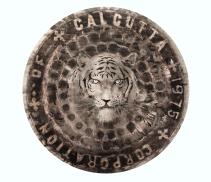 Calcuta (Bengal tiger) / Calcuta 2014/ceras y tinta china sobre papel 80x80 cm