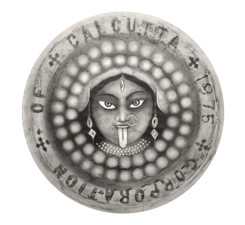 Calcuta (Kali) / Calcuta 2014/grafito sobre papel 80x80 cm