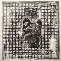 Enllumenat públic (madre e hijo) / BCN 2014/ceras y tinta china sobre papel 80x80 cm